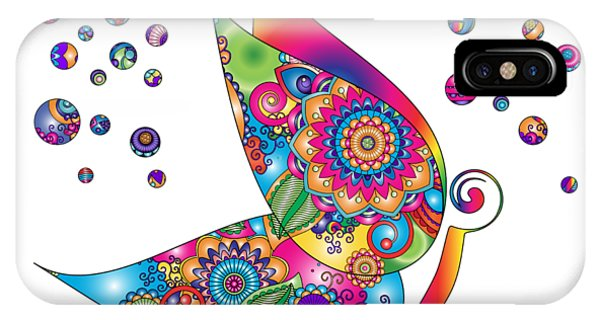 Abstract Colorful Butterfly IPhone Case