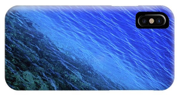 Abstract Crater Lake Blue Water IPhone Case