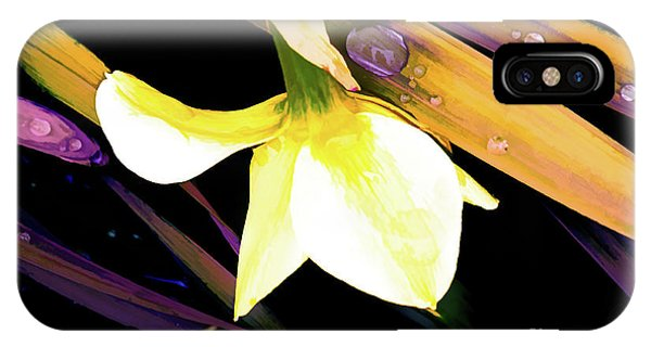 Abstract Daffodil And Droplets IPhone Case