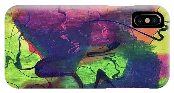 Colorful Abstract Cloud Swirling Lines IPhone Case