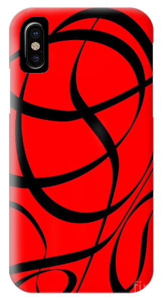 Abstract Design In Red And Black IPhone Case