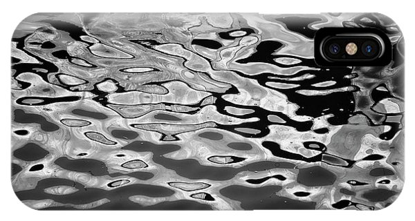 Abstract Dock Reflections I Bw IPhone Case