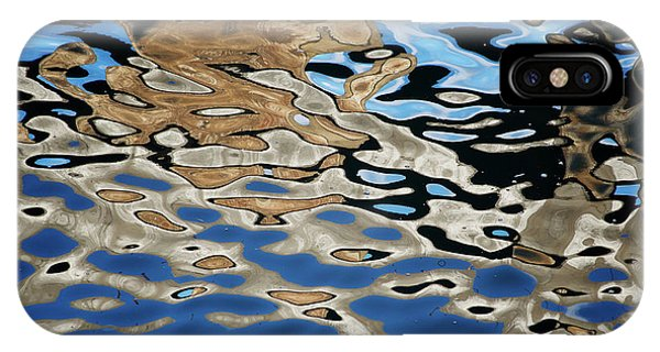 IPhone Case featuring the photograph Abstract Dock Reflections I Color by David Gordon