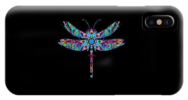 IPhone Case featuring the digital art Abstract Dragonfly by Deleas Kilgore
