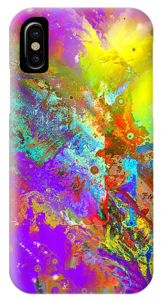 Abstract Eight-chroma Phone Case by Patricia Motley
