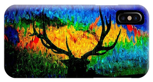 Abstract Elk Scenic View IPhone Case