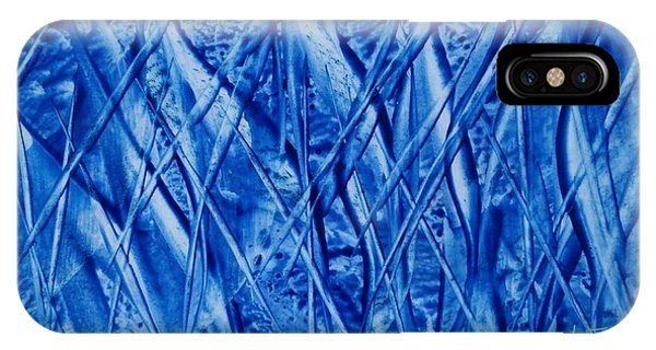 Abstract Encaustic Blues IPhone Case