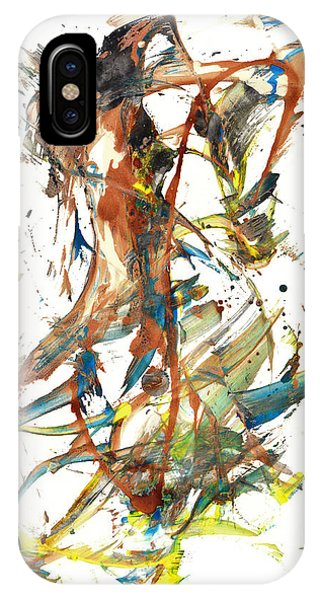 IPhone Case featuring the painting Abstract Expressionism Painting Series 1039.050812 by Kris Haas