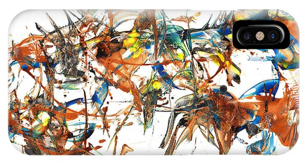 IPhone Case featuring the painting Abstract Expressionism Painting Series 1041.050812 by Kris Haas
