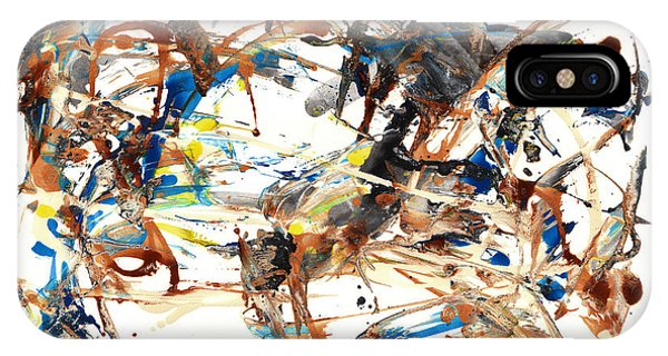IPhone Case featuring the painting Abstract Expressionism Painting Series 1042.050812 by Kris Haas
