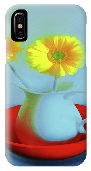 Abstract Floral Art 268 IPhone Case