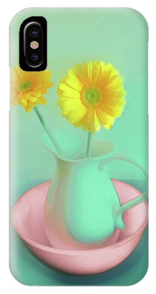 Abstract Floral Art 282 IPhone Case