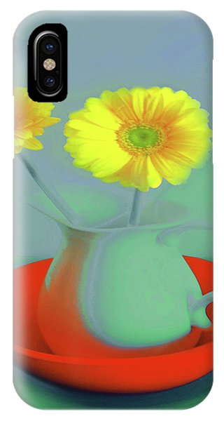 Abstract Floral Art 301 IPhone Case