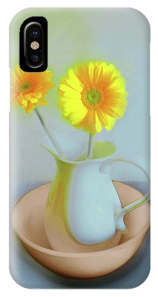Abstract Floral Art 302 IPhone Case