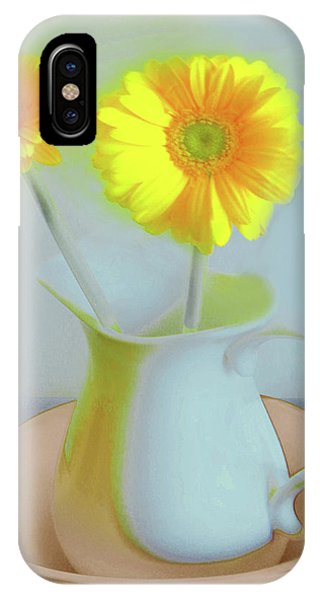 Abstract Floral Art 303 IPhone Case