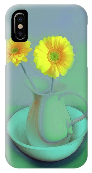 Abstract Floral Art 305 IPhone Case