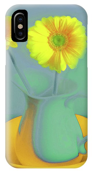 Abstract Floral Art 307 IPhone Case