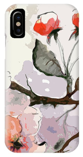 Abstract Floral Art Pink Blossoms 2 IPhone Case