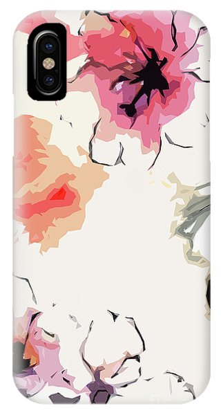 Abstract Floral Art Pink Blossoms IPhone Case