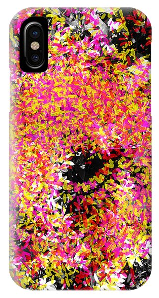 Abstract Floral Swirl No.3 IPhone Case
