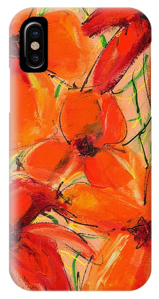 Abstract Floral Two IPhone Case