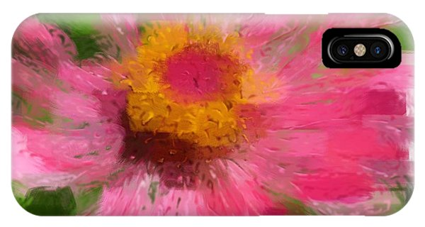 Abstract Flower Expressions IPhone Case