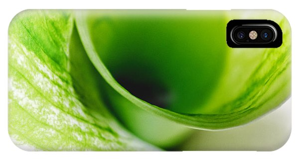 Abstract Green Wite Flowers Macro Photography Art Work Square IPhone Case