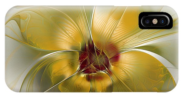 Abstract Flower With Silky Elegance IPhone Case