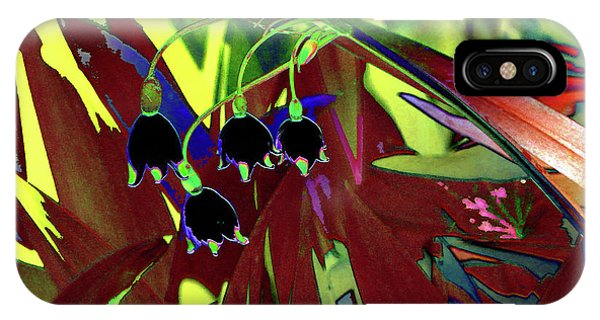 Abstract Flowers Of Light Series #10 IPhone Case