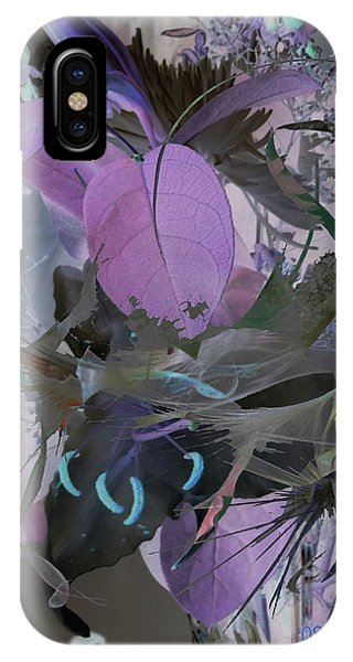 Abstract Flowers Of Light Series #12 IPhone Case