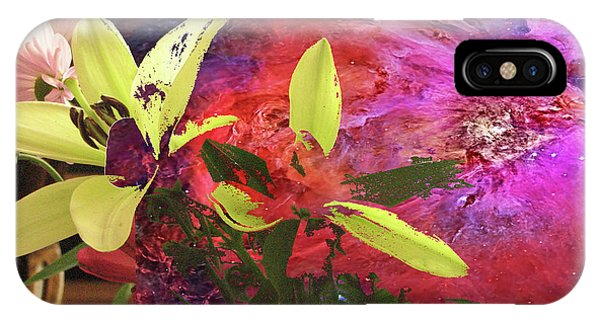 Abstract Flowers Of Light Series #16 IPhone Case