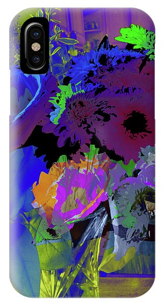 Abstract Flowers Of Light Series #18 IPhone Case