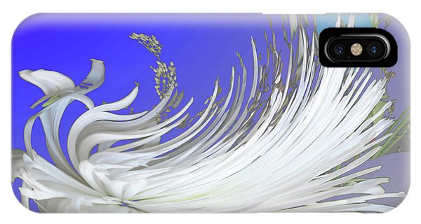 Abstract Flowers Of Light Series #4 IPhone Case