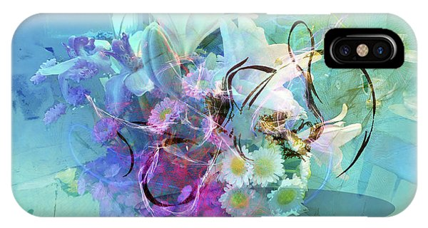Abstract Flowers Of Light Series #9 IPhone Case