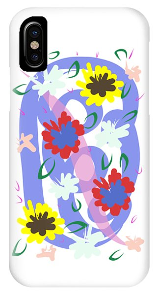 IPhone Case featuring the digital art Abstract Garden #1 by Bee-Bee Deigner