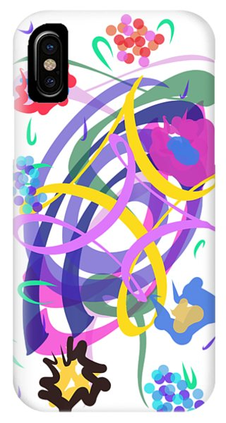 IPhone Case featuring the digital art Abstract Garden #2 by Bee-Bee Deigner