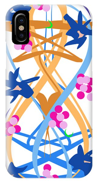 IPhone Case featuring the digital art Abstract Garden #3 by Bee-Bee Deigner