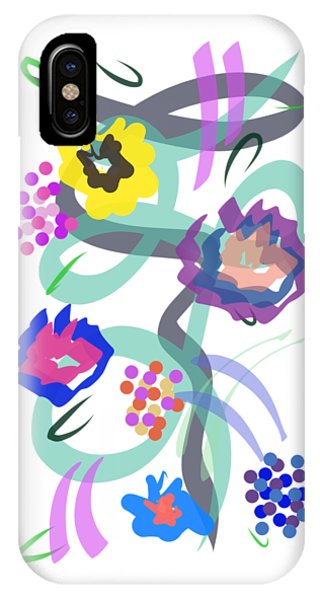 IPhone Case featuring the digital art Abstract Garden Nr 4 by Bee-Bee Deigner