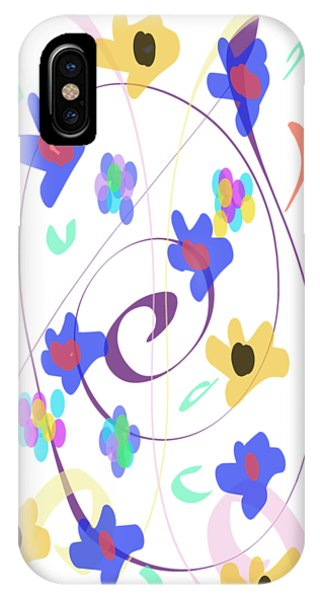 IPhone Case featuring the digital art Abstract Garden Nr 7 Naif Style by Bee-Bee Deigner