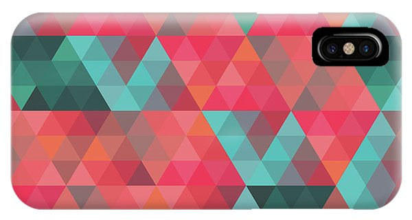 Endless iPhone Case - Abstract Geometric Colorful Endless Triangles Abstract Art by Tina Lavoie