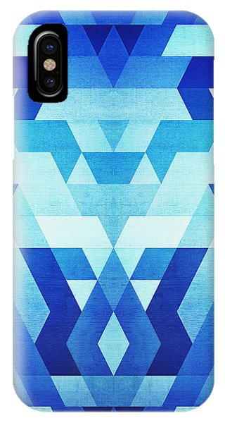 Abstract Geometric Triangle Pattern Futuristic Future Symmetry In Ice Blue IPhone Case