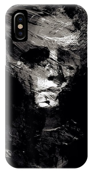Abstract Ghost Black And White IPhone Case