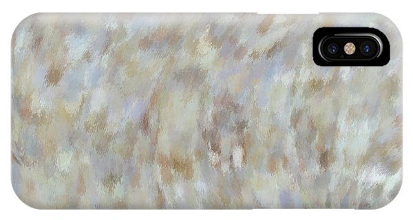 IPhone Case featuring the mixed media Abstract Gold Cream Beige 6 by Clare Bambers