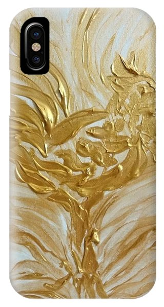 Abstract Golden Rooster IPhone Case