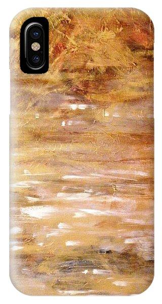 Abstract Golden Sunrise Beach  IPhone Case