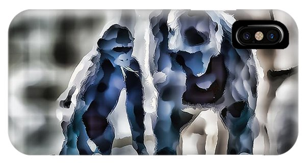 Abstract Gorilla Family IPhone Case
