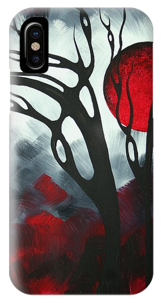Barren iPhone Case - Abstract Gothic Art Original Landscape Painting Imagine I By Madart by Megan Duncanson