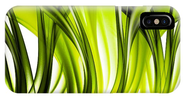 Abstract Green Grass Look IPhone Case