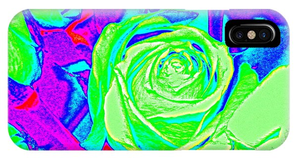 Abstract Green Roses IPhone Case