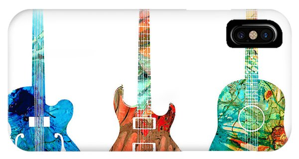Festival iPhone Case - Abstract Guitars By Sharon Cummings by Sharon Cummings